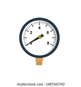 manometer - flat design.Pressure gauge - with metal thread. Pressure gauge for pressure measurement in heating, water and compressed air systems
