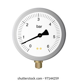 manometer on white background