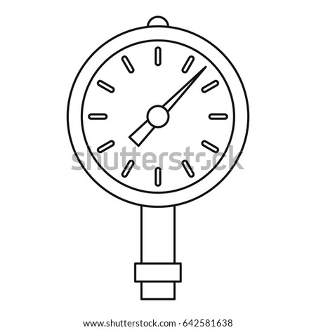 Manometer Pressure Gauge Icon Outline Style Stock Vector Royalty