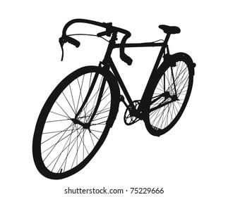 Man's Antique Bike in vector format