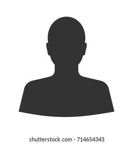 Man's silhouette glyph icon. Silhouette symbol. Negative space. Vector isolated illustration