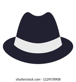 Man's top hat label. Top hat vector illustration. EPS 10.