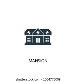 Mansion icon. Simple element illustration. Mansion symbol design from Real Estate collection. Can be used for web and mobile.