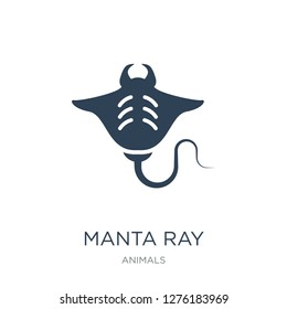 manta ray icon vector on white background, manta ray trendy filled icons from Animals  collection, manta ray vector illustration