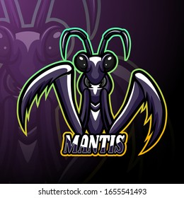 Mantis esport logo mascot design