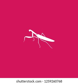 mantis icon vector. mantis sign on pink background. mantis icon for web and app