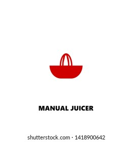 manual juicer icon. manual juicer vector design. sign design. red color