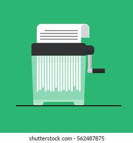 Manual paper Shredder machine