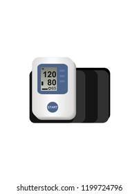 Manual tonometer on a white background