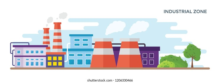 Manufacturing units together depicting industrial zone