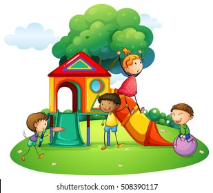 Children Playing Outside Clipart Images, Stock Photos & Vectors |  Shutterstock