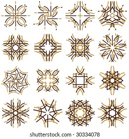 many decorative elements, vector