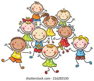Many happy kids