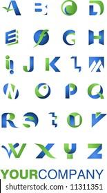 many icons, alphabet