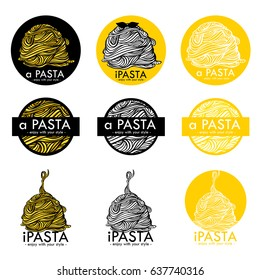 many logo pasta and noodle