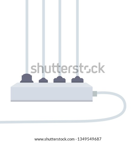 Awe Inspiring Many Outlets Plug Wires Electrical Socket Stock Vector Royalty Free Wiring Cloud Hisonuggs Outletorg