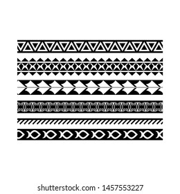 maori black and white texture border, tribal pattern tattoo, aboriginal samoan band, maori seamless art bracelets ornament, polynesian line tattoo pattern, ethnic ornament tribal band