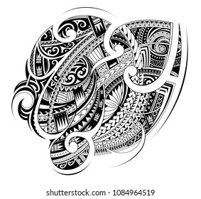 Maori ethnic style ornament. Good for sleeve and chest tattoo