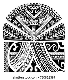 Maori ethnic style sleeve tattoo ornament