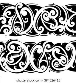 Maori ethnic tattoo fusion with celtic style