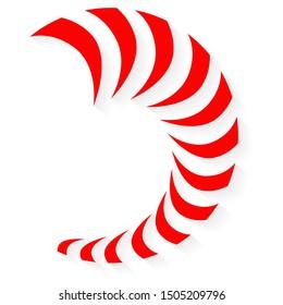 Maori Koru Nautilus Spiral red shadow New Zealand Kiwiana style