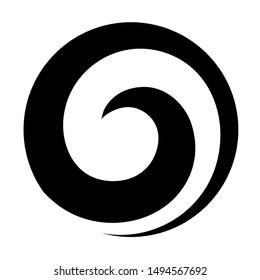 Maori koru spiral swirl for logo or icon in black New Zealand Kiwiana style