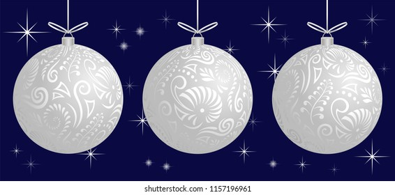Maori koru white frosted xmas bauble decoration ball for Christmas tree banner