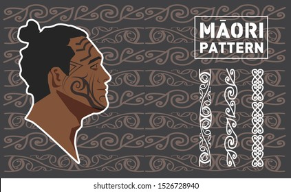 maori pattern in new zealand. graphic vector illustration. nz traditional vector.