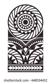 Maori - Polynesian Bracelets Tattoo Stencil Pattern