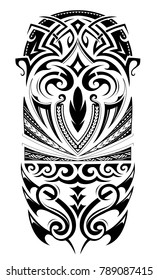 Maori style design for sleeve tattoo