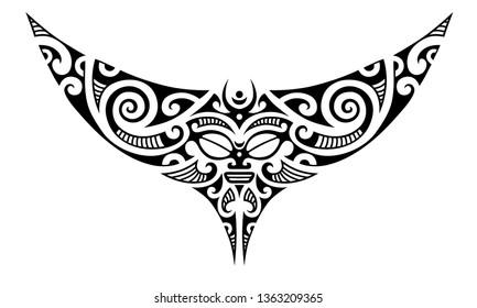 3f1cb112ef51c Manta Tattoo Images, Stock Photos & Vectors | Shutterstock
