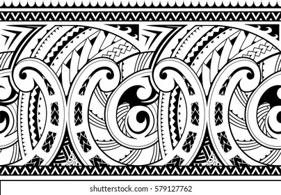 Maori style ornament. Good for seamless sleeve tattoo