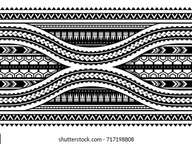 Maori style pattern. Can be used as seamless armband design
