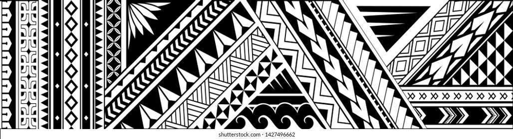 Maori style tattoo design. Good for arm band ink