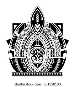 Maori style tattoo design for sleeve area
