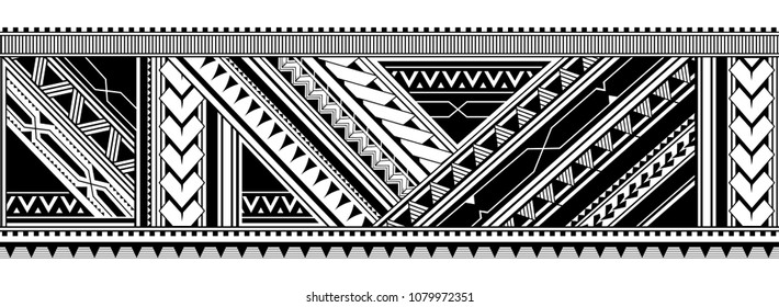 Maori style tattoo ornament. Good for sleeve pattern
