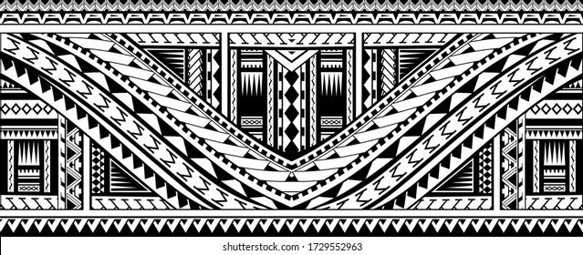 Maori style tattoo sleeve design