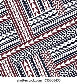 Maori style tribal design. Seamless backdrop ornament