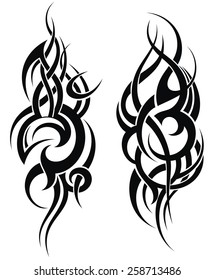 Maori styled tattoo pattern for a shoulder