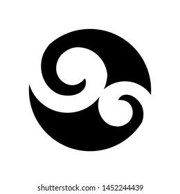 Maori symbol based on silver fern frond