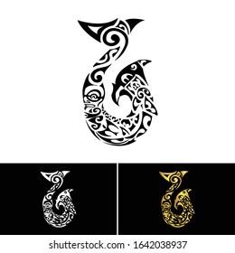 Maori Symbol Hei Matau Fish Hook Art Logo Vector