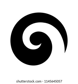 Maori symbol, spiral shape based on silver fern frond