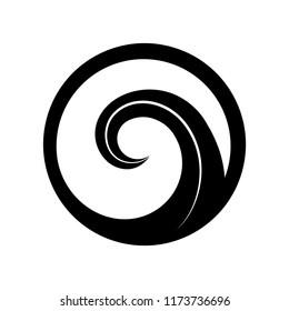 Maori symbol is a spiral shape based on silver fern frond