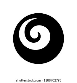 Maori symbol, spiral shape based on silver fern frond