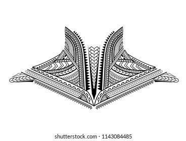 maori tattoo design for the chest or neck
