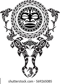 Maori tattoo design. Idea for tattoo