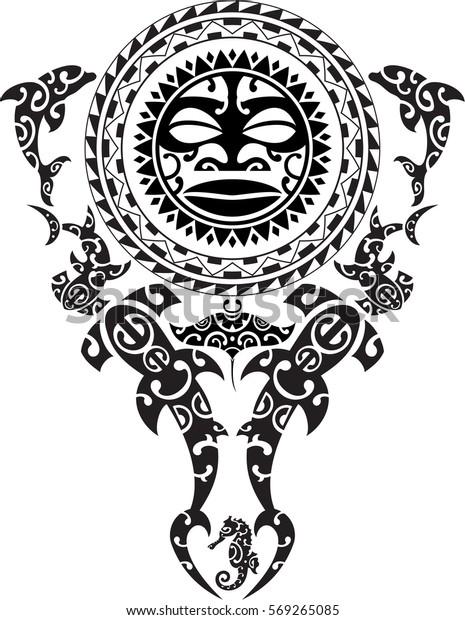 b36fa2925484a Maori Tattoo Design Idea Tattoo Stock Vector (Royalty Free) 569265085