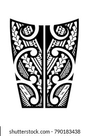 maori tattoo design for the shins or lower arms