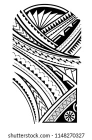 maori tattoo design for the upper arm