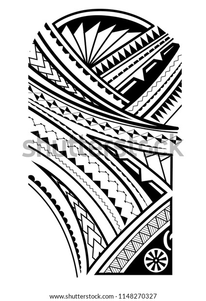 Maori Tattoo Design Upper Arm Stock Vector (Royalty Free